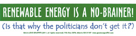 Renewable Energy Is a No-Brainer! (Is That Why the Politicians Don't Get It?)